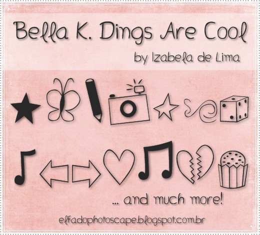Bella K. Dings Are Cool font.