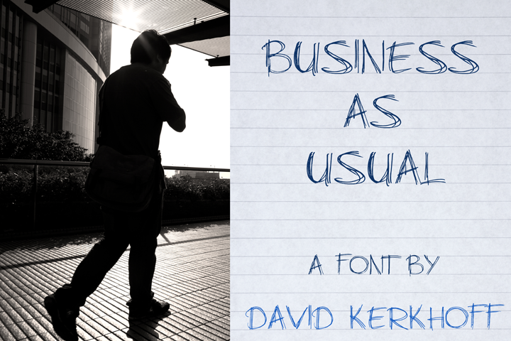 Business As Usual font.