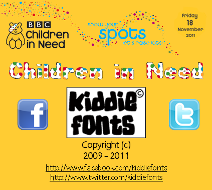Children in Need font.