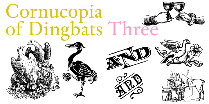 Cornucopia of Dingbats Three font.