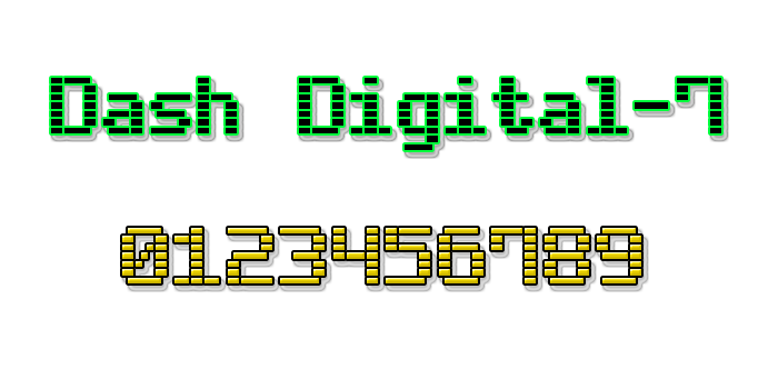 Dash Digital-7 font.
