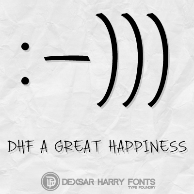DHF A Great Happiness font.