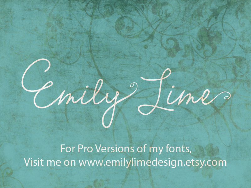 Emily Lime Words font.