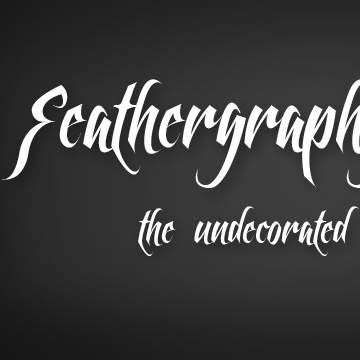 Feathergraphy font.