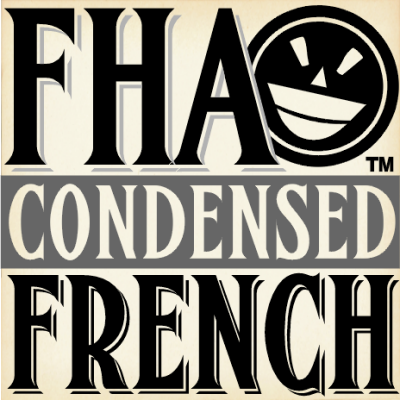 FHA Condensed French NC font.