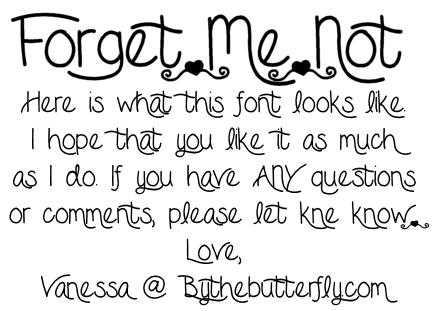 Forget Me Not font.