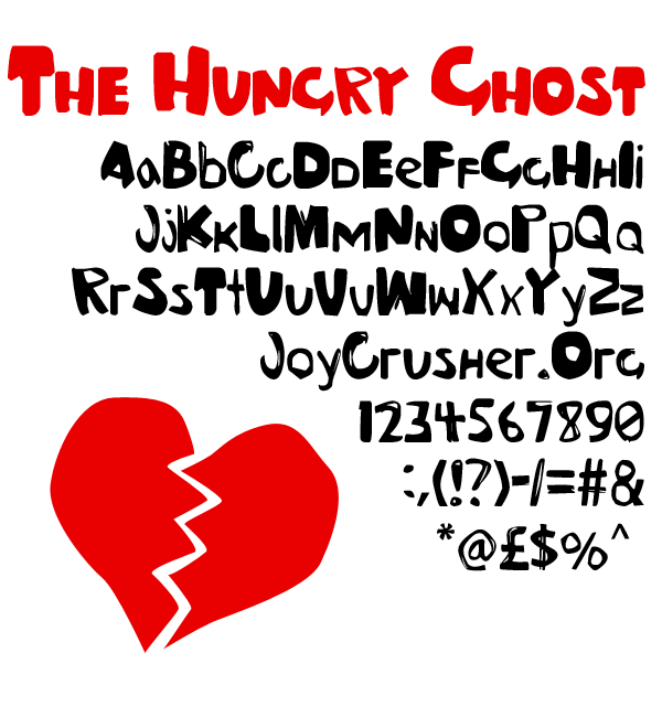 Ghosts font.