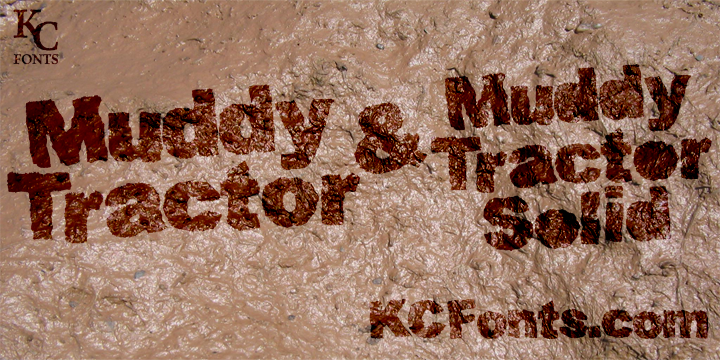 Muddy Tractor font.