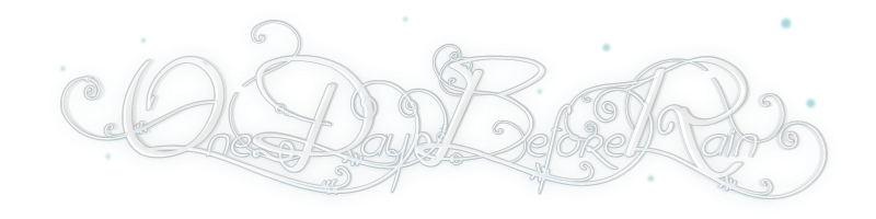 One Day Before Rain font.