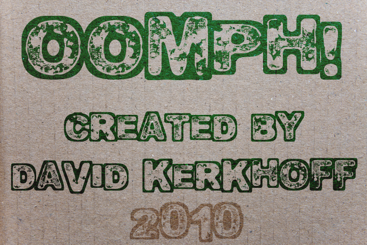 Oomph font.