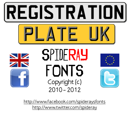 Registration Plate UK font.