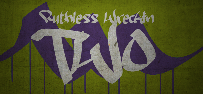 Ruthless Two font.