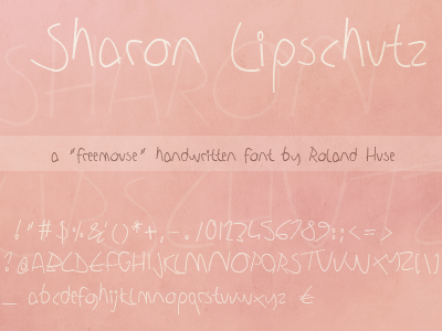 Sharon Lipschutz Handwriting font.