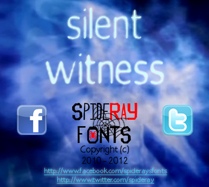 Silent Witness font.