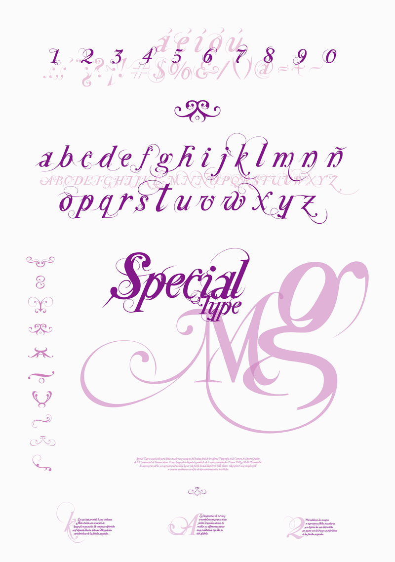 Special Type font.