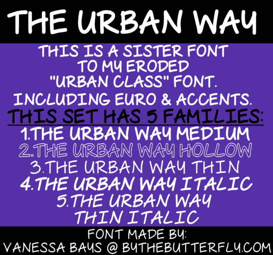 The Urban Way font.