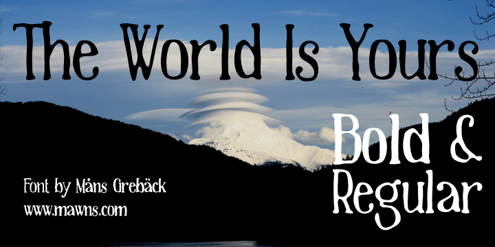 The World Is Yours font.