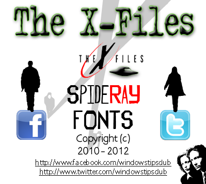 The X-Files font.
