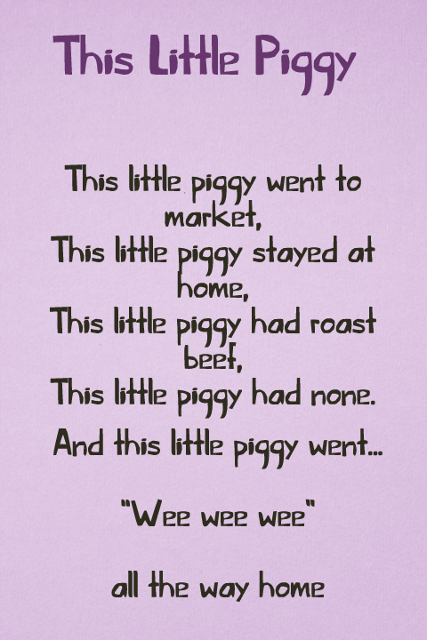 This Little Piggy font.