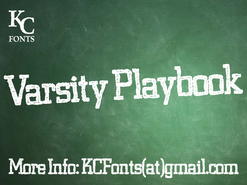 Varsity Playbook font.