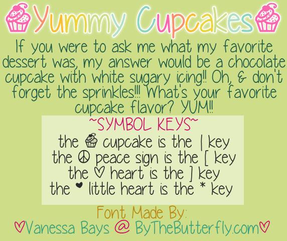 Yummy Cupcakes font.