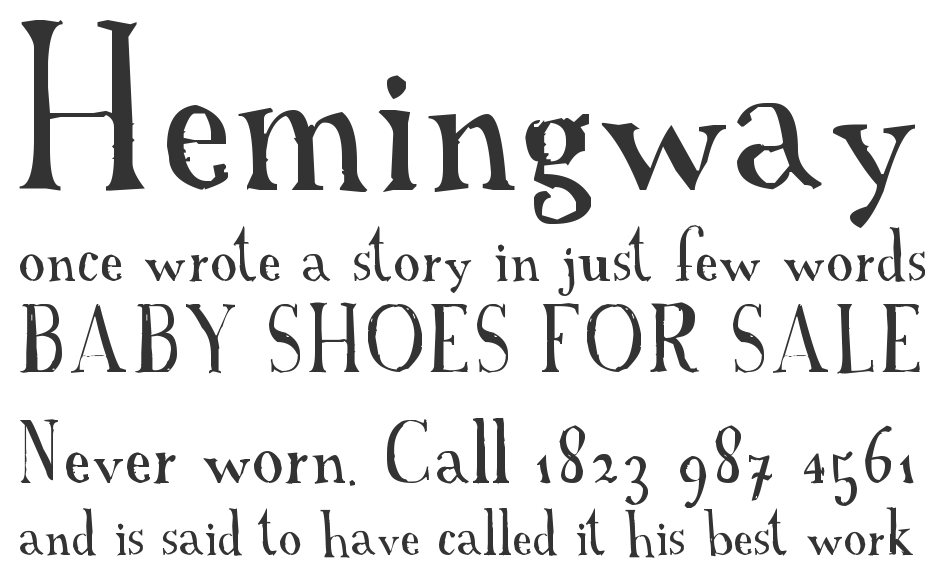 A Font with Serifs font