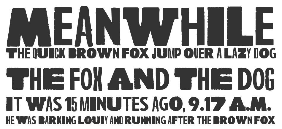 A Wolf At The Door font