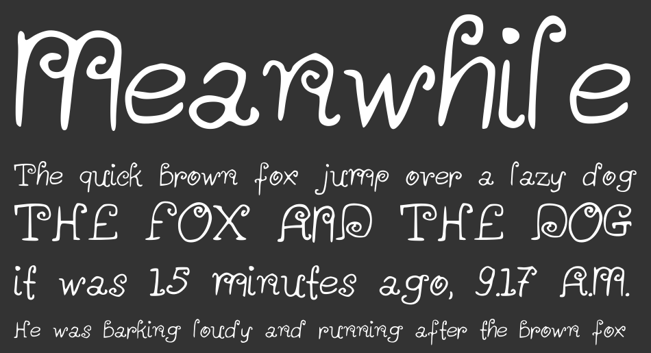 A Little Scribble in My Book font