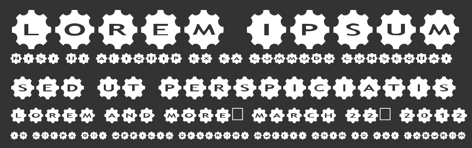 AlphaShapes Gears 3 font