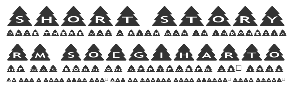 AlphaShapes Xmas Trees font