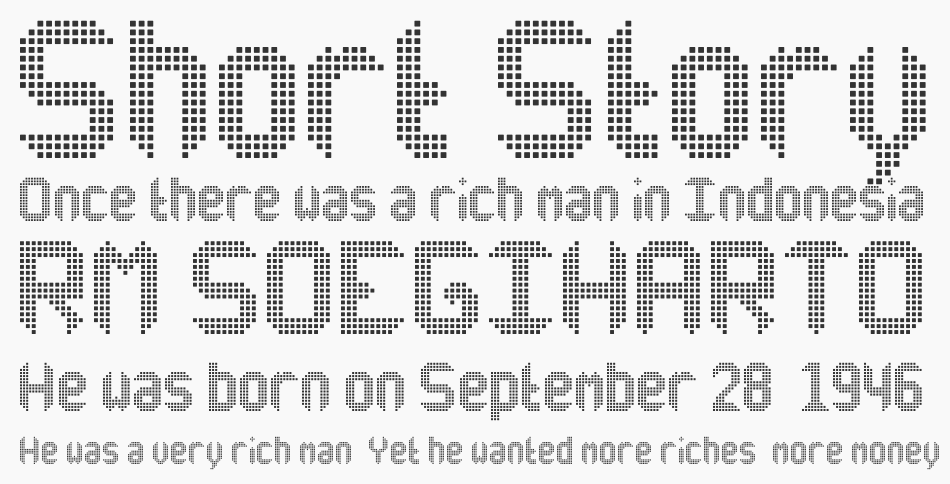 Another X Display TFB font