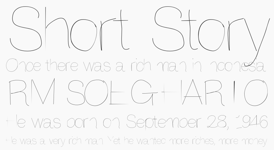 Another try font