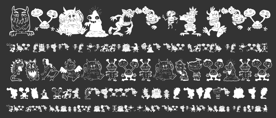 Art Monsters font