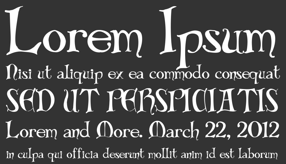 Bibliotheque font