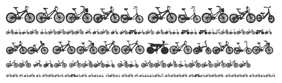 Bicycle TFB font