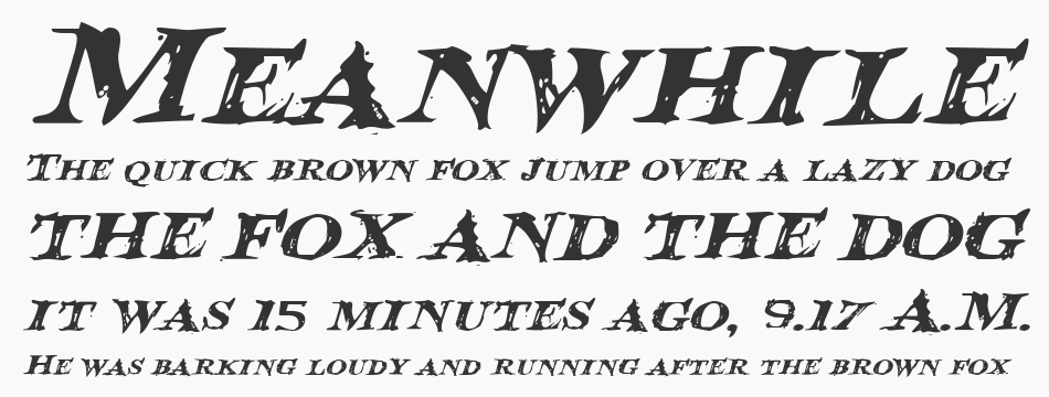 Blood Crow Expanded Italic, Expanded Italic