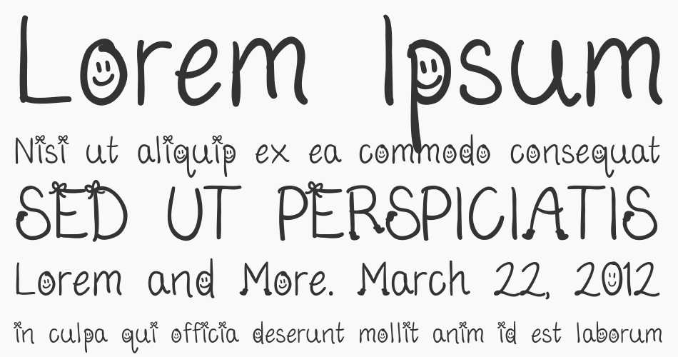 Bows And Boots font