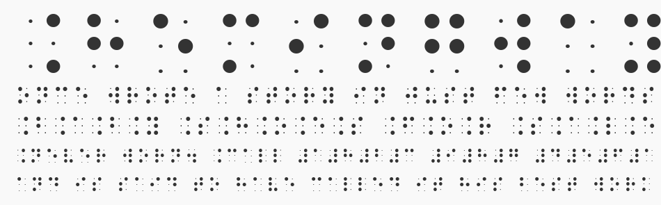 BrailleSlo 6Dot, Regular