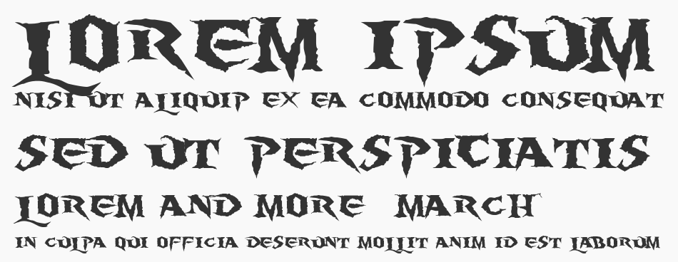 Burning Wrath font
