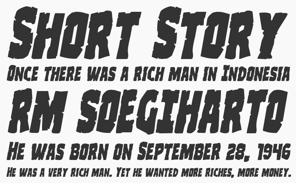 Clubber Lang Expanded Italic, Expanded Italic