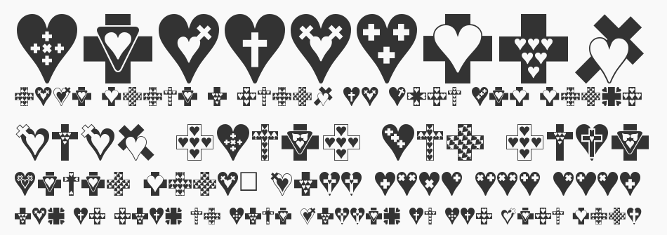 Crosses n Hearts font