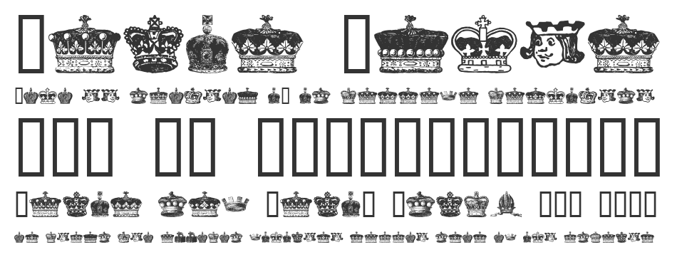 Crowns and Coronets font