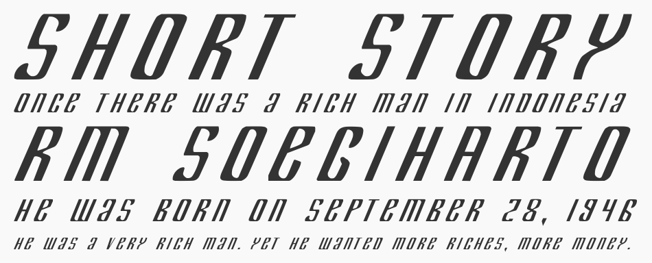 Department H + K font