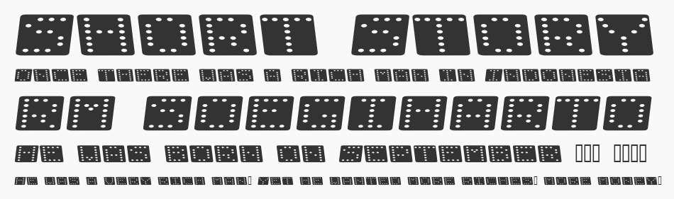 Domino Flad Kursiv, Regular