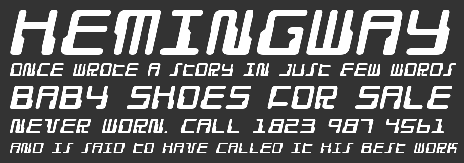 Droid Lover Expanded Italic, Expanded Italic