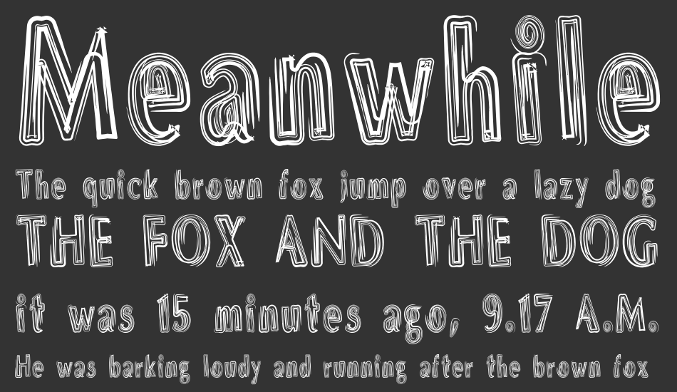 DS Brushes font
