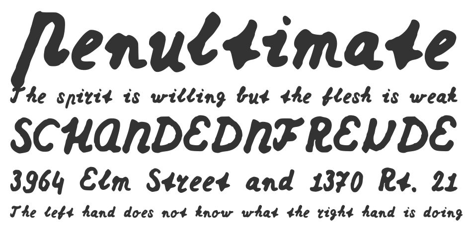Dutch school writing font