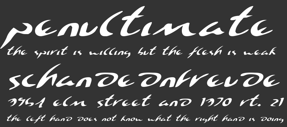 Eagleclaw Expanded Italic, Expanded Italic