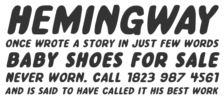 Excelsior Comics Expanded Italic, Expanded Italic