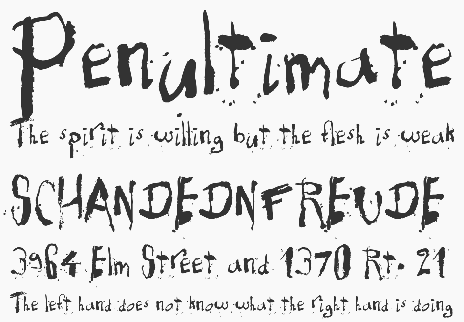 Exhausted font